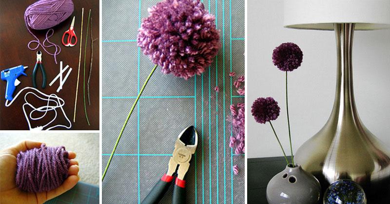 jak zrobić kwiaty z włóczki