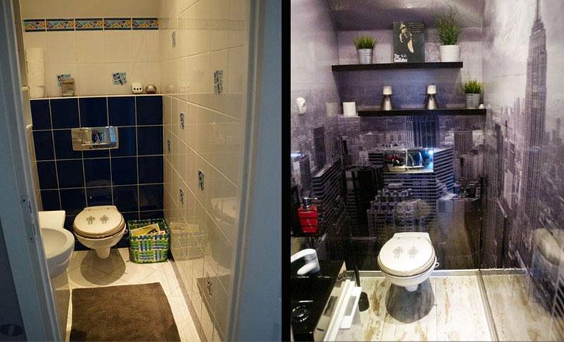 łazienka z okleiną Nowy Jork
