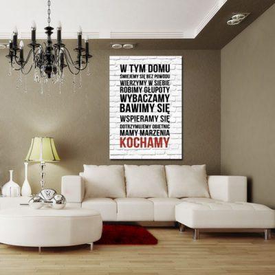 jaka dekoracja na ścianę do salonu