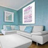 plakat zasady w domu