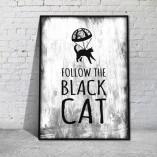plakaty w ramie kot