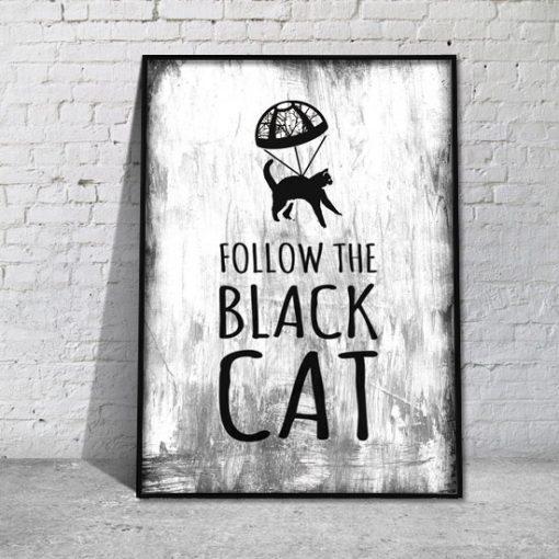 plakat na ścianę z kotem