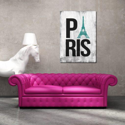 plakat z napisem paris