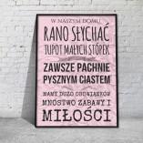 plakaty z napisami do salonu