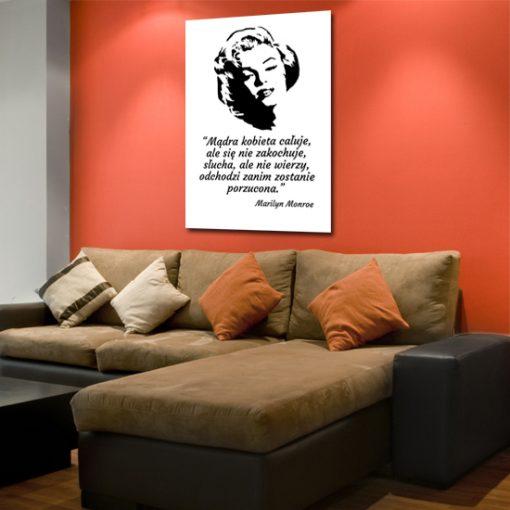 plakat cytat Marilyn Monroe