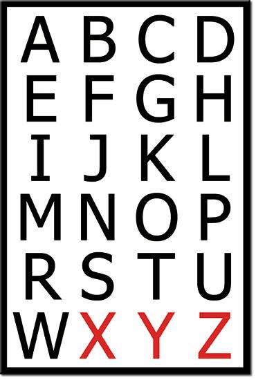 obrazy litery