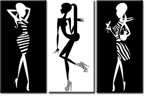 tryptyk modne kobiety