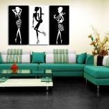 dekoracje ścian z kobietami