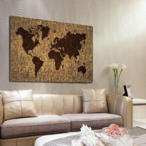 dekoracje ścienne mapa świata
