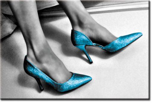 obrazy niebieskie buty