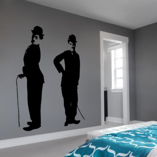 wzory na ściany charlie chaplin