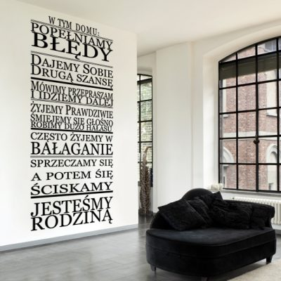 naklejki na ściany z napisami o domu i rodzinie