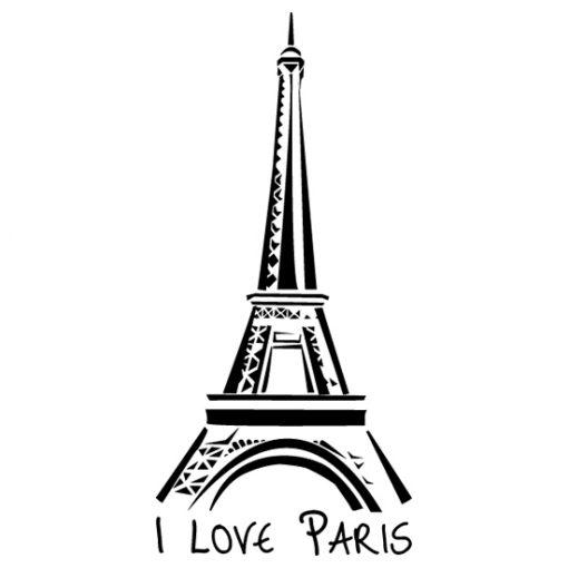 naklejka z motywem Paryża