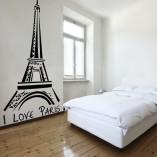 naklejka do paryskiej sypialni