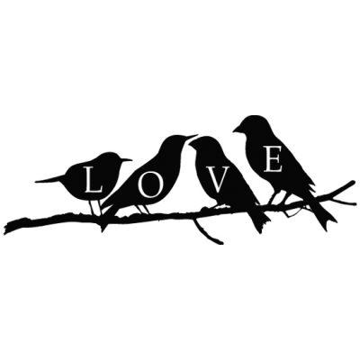 tatuaż ścienny z ptaszkami