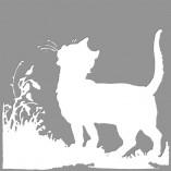 Szablon do malowania ścian z kotem