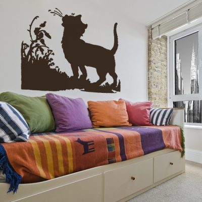 Dekoracja na ścianę kot