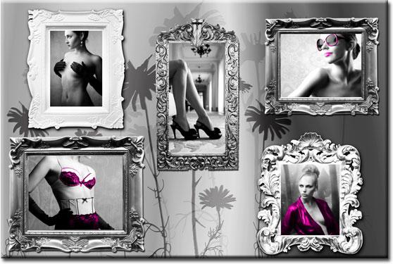dekoracje ścian glamour