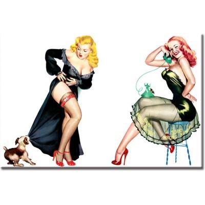 tapeta retro kobiety