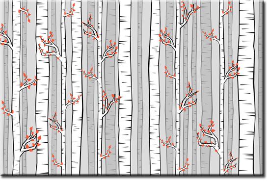 ozdoby ścienne brzozy