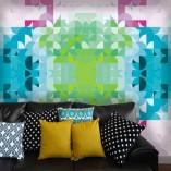 geometryczne dekoracje ścian
