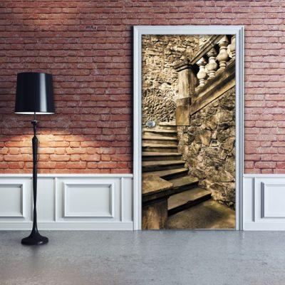 okleina na drzwi kamienne schody