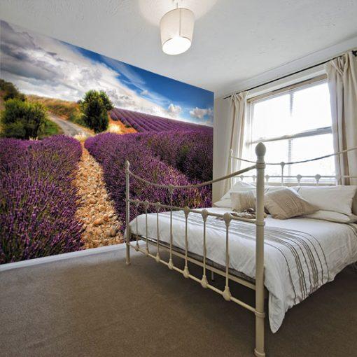 tapeta do prowansalskiej sypialni