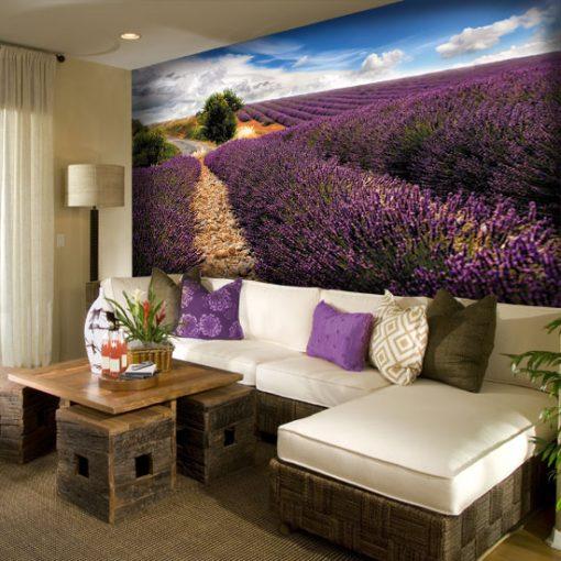 dekoracje ścian lawenda