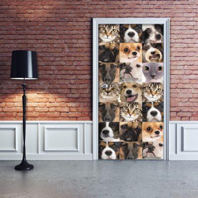 okleina na drzwi pies