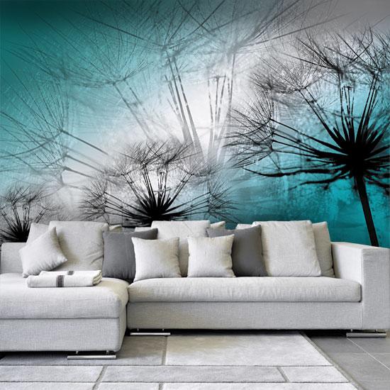 dekoracje ścian z dmuchawcami