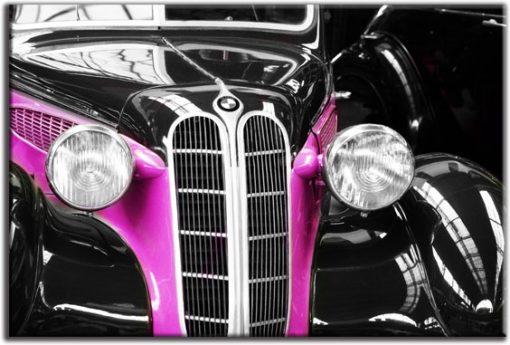 fototapeta stara limuzyna