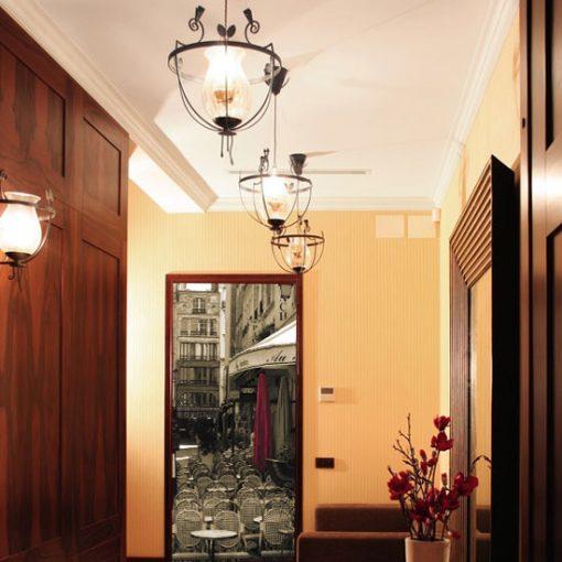 naklejka na drzwi francuska elegancja