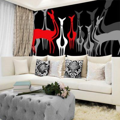 dekoracje ścian sarenki