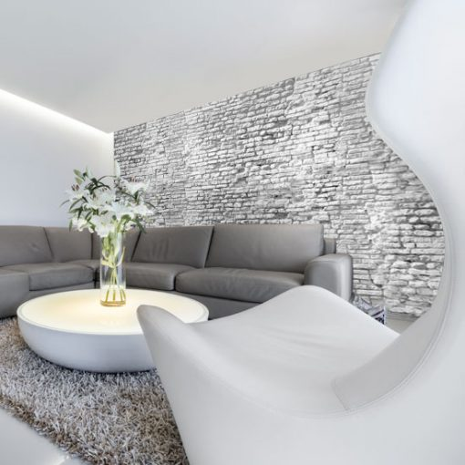 tapeta imitacja białej cegły