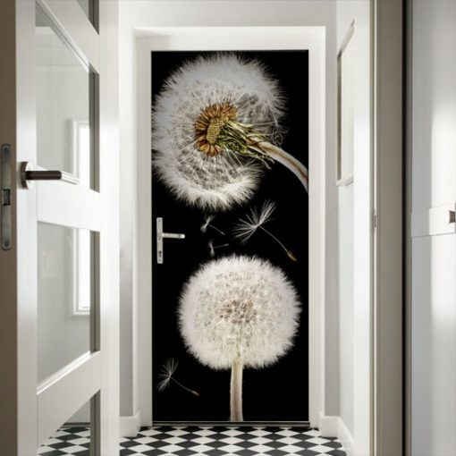 dmuchawce folie na drzwi