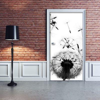 dmuchawce okleina na drzwi
