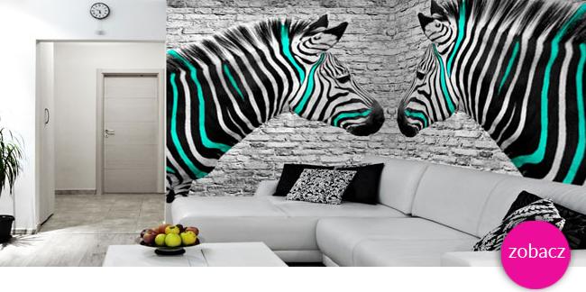 dekoracje ścian z zebrami