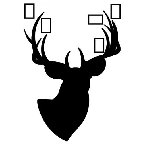 rama ścienna jeleń