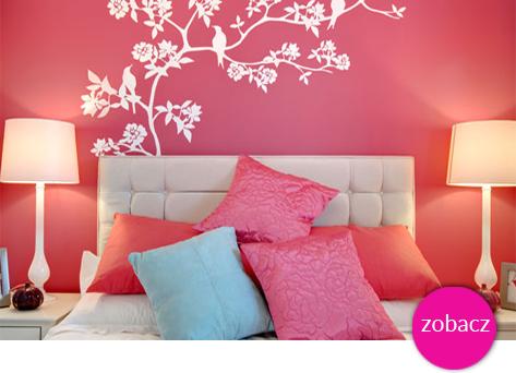 ozdoby ścian w kolorze różowym