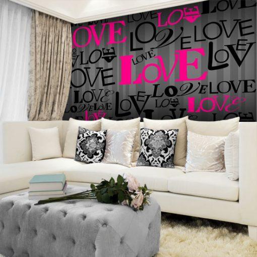 napisy love na ściany