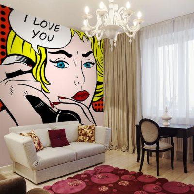 dekoracje ścian komiks