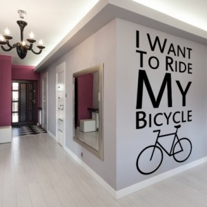 naklejka na ścianę bicycle