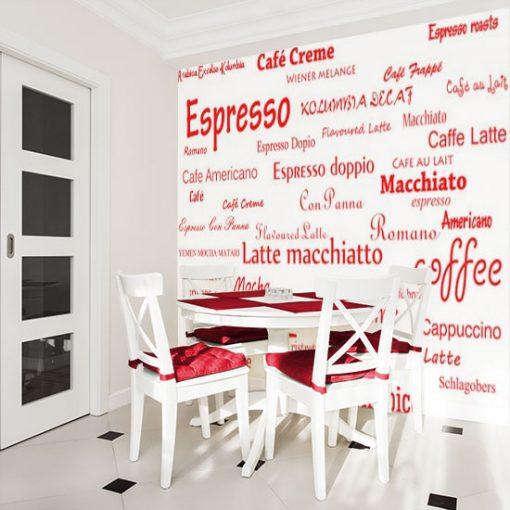 dekoracja kawa napisy w różnych językach