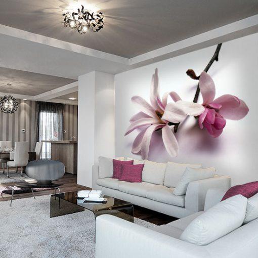 dekoracje ścian magnolia