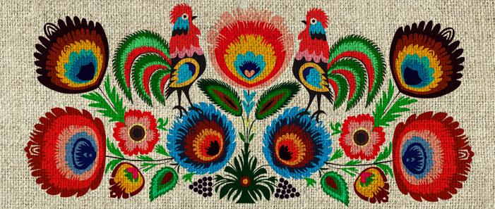 folklor dekoracje ścian