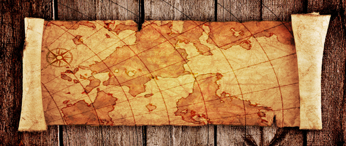 ozdoby ścian z mapami