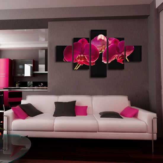 różowe orchidee