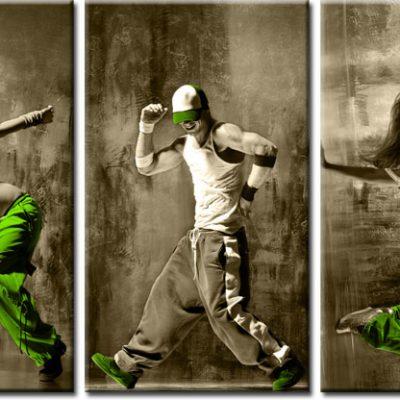 tryptyk z tancerzami