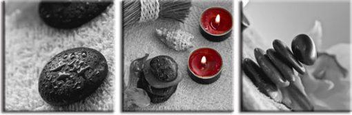 tryptyk ze świecami