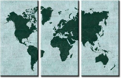 mapa w tryptyku